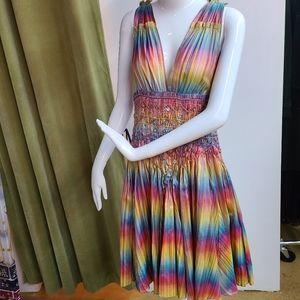 💥RUNWAY Matthew Williamson 100% Silk Dress